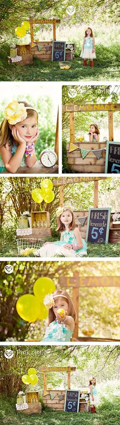 Adorable stylized Lemonade Stand Session.
