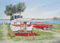 Vintage Travel Trailer Art - My Newest Paintings: (Click to Enlarge)