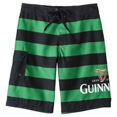 037f6082fa Expect More. Pay Less. Men's Guinness Board Shorts - Green/Black Stripe