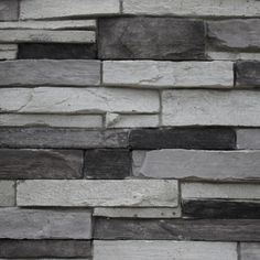 Beautiful Stone Veneer Wall Design Ideas - If you thought stone veneer was just for front facing a home to add curb appeal then you only know half the story. Real thin stone veneer is a beautif. Stone Veneer Exterior, Faux Stone Veneer, Stone Veneer Panels, Stone Exterior Houses, Stone Facade, Grey Exterior, Modern Farmhouse Exterior, Brick And Stone, Exterior House Colors