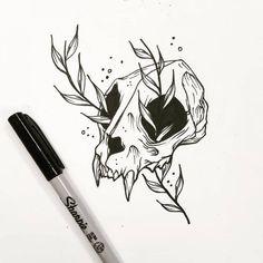 on Inspirationde – Tattoo Sketches & Tattoo Drawings Tattoo Sketches, Tattoo Drawings, Art Sketches, Dark Art Drawings, Cool Drawings, Skull Tattoos, Body Art Tattoos, Cross Tattoos, Totenkopf Tattoos
