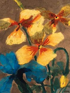 Emil Nolde「Yellow and Blue Amaryllis」