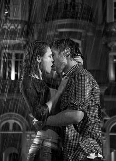 I sit in the window pain awaiting your arrival, to my suprise you throwing stones at my window inviting me to come kiss you in the rain. What bliss is to kiss your love in the rain.
