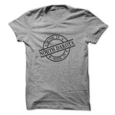 Made In North Dakota Stamp Style Logo Symbol Black T Shirts�