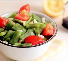 Ensaladas de judías  y tomates