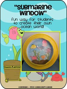 Cute way to let children imagine what the ocean waters would look like from their own submarine! $
