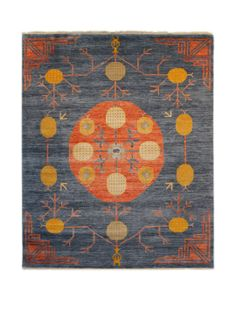 "Sari Khotan Hand-Knotted Rug (8'x10'2"") by FJ Kashanian at Gilt"