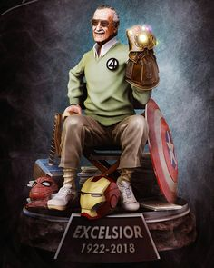 # Marvel& tribute to Stan Lee - collector& statue, Luciano Berutti on ArtStation below . - to Stan Lee – collector& statue, Luciano Berutti on ArtStation below www. Marvel Dc Comics, Marvel Avengers, Marvel Jokes, Bd Comics, Marvel Funny, Marvel Heroes, Avengers Movies, Marvel Films, Logo Super Heros