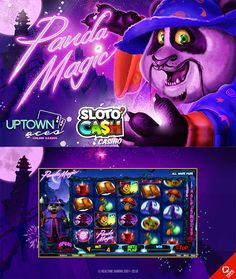 A brand new slot by Realtime Gaming will be landing at your favourite online casinos this month and this is what you can look forward to when playing the Panda Magic slot. Visit Sloto'Cash and Uptown Aces Casino!  --  #OnlineCasino #NewSlot #Magic #Panda