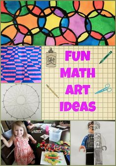 FUN Math Art Ideas- From symmetry art to tessellations to optical illusions, there is something for all ages.