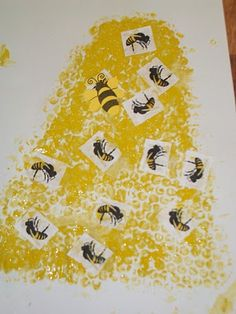 Bubble Wrap Bumble Bee Hive - Say that three times fast. LOL