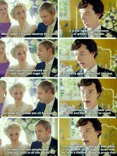 This was so sweet when Sherlock said this