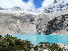 The high altitude climb pays off! Laguna 69 near Huaraz, Peru Backpacking Peru, Lake Titicaca, Machu Picchu, Climbing, Coast, Mountains, Nature, Travel, Outdoor