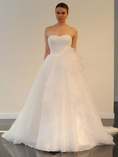 Yumi Katsura Spring 2016 Baku ball gown wedding dress with a pleated bodice and dramatic skirt