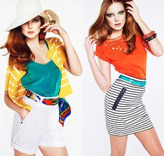 Eniko Mihalik Shows Us How to Style Color and Stripes in Mango's Lookbook  - www.fabsugar.com