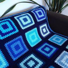 Blue Crochet Blanket Blue Afghan Blanket   Etsy Crochet Box Stitch, Crochet Quilt, Crochet Blanket Patterns, Baby Blanket Crochet, Blue Blanket, Afghan Blanket, Unique Gifts, Quilts, Handmade