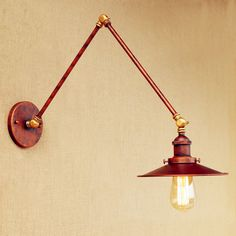 30cm Adjustable Swing Long Arm Wall Light Fixtures Loft Industrial Vintage Wall Lamp LED Edison Wall Sconces Appliques Murales #Affiliate