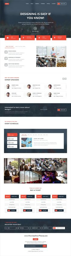 Tukio is clean and modern design 5in1 responsive #WordPress theme for #conference, event and #webinars website to live preview & download click on image or Visit  #websitedesign