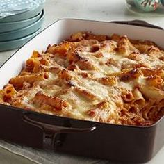 Creamy Baked Pasta - I made this with Garden Rotini (instead of ziti), omitted the tomatoes, and just eyeballed the sour cream... it was AMAZING!!! I had people asking for the recipe (which I was a little embarrassed at how easy it was!) A keeper for sure.