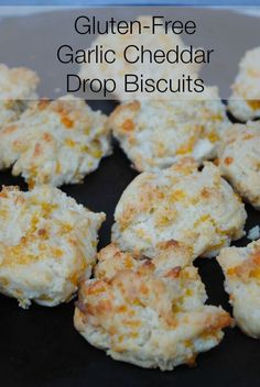 Gluten free garlic cheddar drop biscuits.  So good!  Find out how to make your regular recipes gluten free without changing the recipe.
