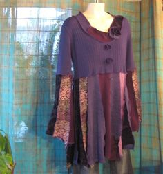 Bing : upcycled clothes. Remove some of the fullness change sleeves