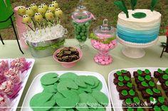 Treats at a Frog Party #frog #partytreats