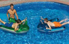 Manta Ray Dual Squirter Swimming Pool Float Set Pool Toys