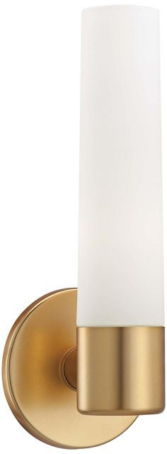 """George Kovacs Gold 12 1/2"""" High Wall Sconce -"""