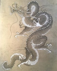DRG Japanese Dragon Tattoos, Japanese Tattoo Art, Japanese Tattoo Designs, Japanese Drawings, Japanese Artwork, Black Dragon Tattoo, Samurai Artwork, Traditional Japanese Tattoos, Art Asiatique