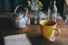 a cup of tea with a good book