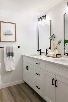 Modern Farmhouse Master Bathroom Renovation with Delta: The Process & Reveal ~ Best Dream House Bathroom Renos, Bathroom Faucets, Small Bathroom, Concrete Bathroom, Bathroom Ideas, Modern Bathroom Decor, Bathroom Inspo, Modern Bathroom Inspiration, Bathroom Showers