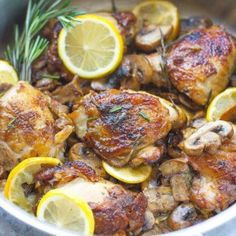 Lemon Rosemary Chicken makes a flavorful and easy weeknight dish