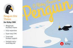 FREE this week on Creative Market: Blog & Portfolio CMS: Penguin by Shaun Dona Download link: http://crtv.mk/e0Ah4