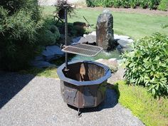 Steel Fire PIt and Basalt Fountain