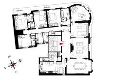 57 ideas apartment floor plan paris for 2019 Vacation Apartments, Paris Apartments, Rental Apartments, Victor Hugo, French Apartment, Parisian Apartment, Apartment Floor Plans, Bedroom Floor Plans, Paris Apartment Rentals