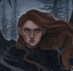 """""""The darkness begins to stare back."""" I know it's technically raining in this scene, but I've always pictured snow. ACOTAR Series by Sarah J Maas A Court Of Wings And Ruin, A Court Of Mist And Fury, Character Inspiration, Character Art, Character Design, Fanart, Saga, Feyre And Rhysand, Sarah J Maas Books"""