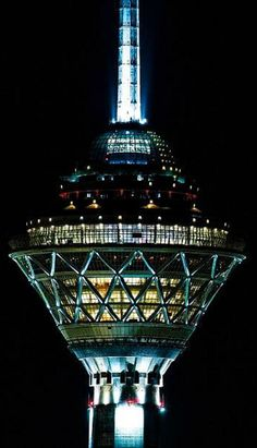 Milad Tower, Tehran, Iran, multi-use: The pod at the top has 12 floors Persian Architecture, Art And Architecture, Iran Today, Asia, Iran Travel, Tehran Iran, Tower Building, Persian Culture, Amazing Buildings