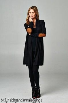 Solid elbow patch cardigan from abby + anna
