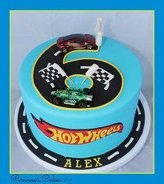 Hot wheels cake, 6th Birthday.
