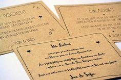 Einladungskarten - 10 indiv. Einladungen zur Hochzeit + Umschläge - ein Designerstück von blattwerk-Shop bei DaWanda