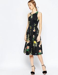 Image 4 of ASOS Floral Occasion Midi Dress