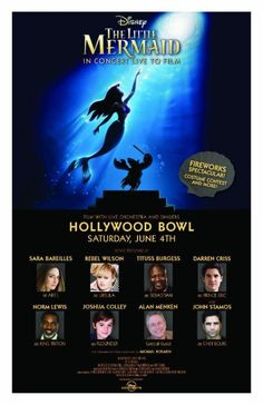 Hollywood Bowl Will Go Under the Sea This Summer with THE LITTLE MERMAID; Sara Bareilles & Rebel Wilson Will Lead; Plus More Star Casting!