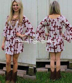 Burgundy Cross Tunic/Dress