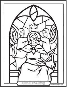 Jesus Christ King Coloring Page