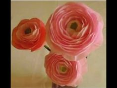 How to make Paper Flowers Ranunculus / Persian Buttercup (Flower # 22) - YouTube