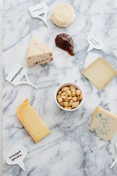 Cheese plate! http://www.stylemepretty.com/living/2015/04/01/10-tips-for-an-effortless-yet-elegant-cocktail-party/ | Photography: Erin McGinn - http://www.erinmcginn.com/