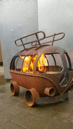 Customer VW Van Fire Pit