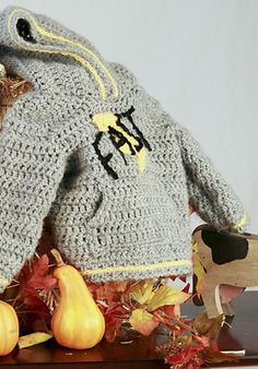 Crochet Hoodies Free pattern Ravelry: Faster than Lightning Hoody pattern by Katie Grace - Crochet Toddler, Crochet Bebe, Crochet For Boys, Diy Crochet, Irish Crochet, Crochet Ideas, Crochet Projects, Crochet Hoodie, Crochet Beanie Hat