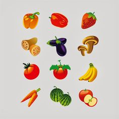 Fruits design vector free