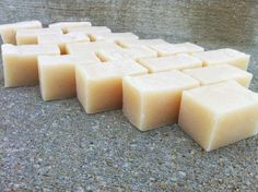 Coconut Oil & Raw Unrefined Shea Butter Soap Vegan by bonbonbathhouse, $1 per oz.  Perfect BABY soap or for people with Eczema.  NO CHEMICALS.  DYE FREE and FRAGRANCE FREE